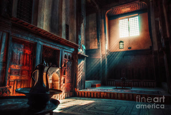 Aged Art Print featuring the photograph Cairo, Egypt - Interior Of A Room In The Famous Bayt Al Suhaymi Located At Al Muizz Street In Cairo by Mohamed Kazzaz
