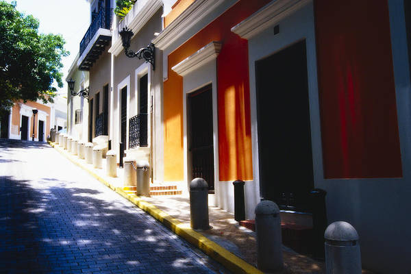 Street Photography Print featuring the photograph Calle Del Sol Old San Juan Puerto Rico by George Oze