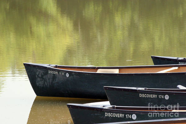 Canoe Art Print featuring the photograph Calm Morning by Jeannie Burleson
