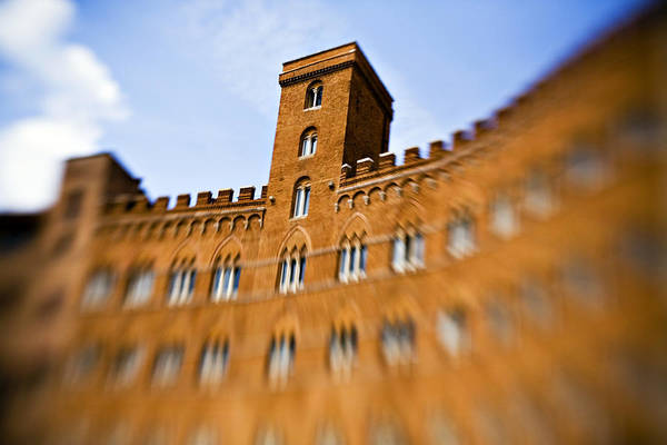 Piazza Del Campo Art Print featuring the photograph Campo Of Siena Tuscany Italy by Marilyn Hunt