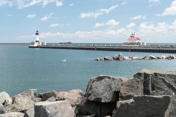 Canal Park Art Print featuring the photograph Canal Park In Duluth by Chip Jones