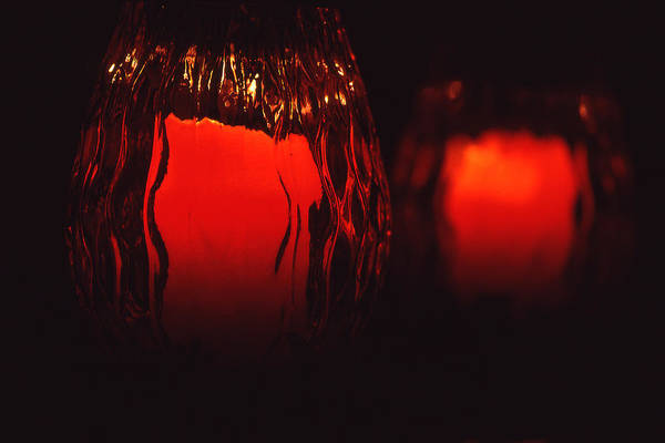 Still Life Art Print featuring the photograph Candle Reflected by Barry Shaffer