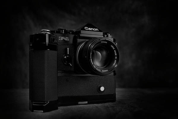 Bw Art Print featuring the photograph Canon F-1 by Mark Wagoner
