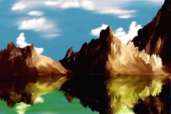 Digital Art Art Print featuring the digital art Canyon Lake by David Lane