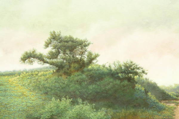 Landscape Art Print featuring the painting Cape Cod Scrub by Stephen Bluto