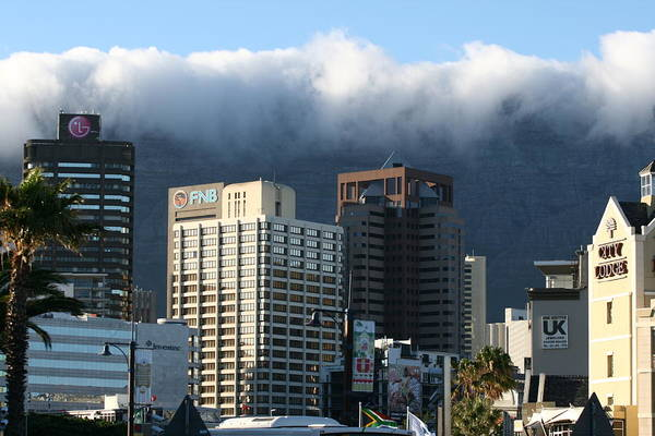 South Africa Art Print featuring the photograph Cape Town - Smoking Mountain by Andrei Fried