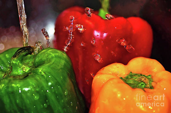 Photography Art Print featuring the photograph Capsicum In The Wash by Kaye Menner
