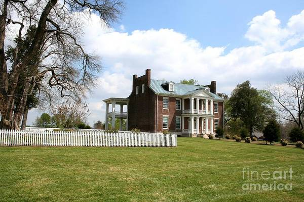 Carter House Print featuring the photograph Carter House And Carnton Plantation by John Black