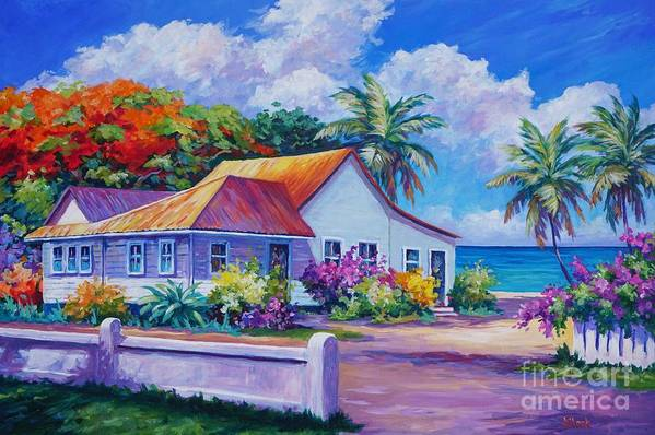 Artwork Art Print featuring the painting Cayman Home by John Clark