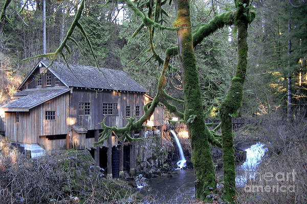 Landscape Art Print featuring the photograph Cedar Creek Grist Mill by Larry Keahey