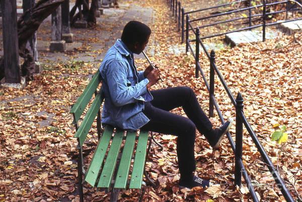 Erik Art Print featuring the photograph Central Park Musician by Erik Falkensteen