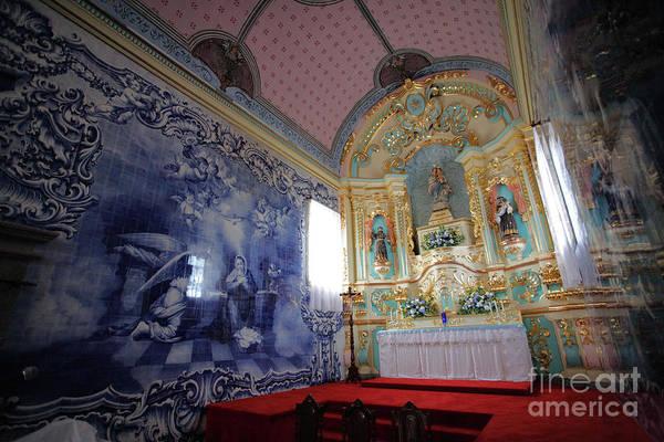 Fenais Da Ajuda Art Print featuring the photograph Chapel In Azores Islands by Gaspar Avila