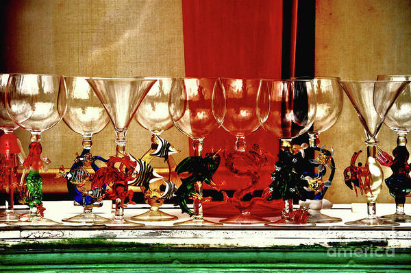 Art Glass Art Print featuring the photograph Cheers To All by Frances Hattier