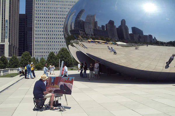 Cloud Gate Art Print featuring the photograph Chicago by Charles Ridgway