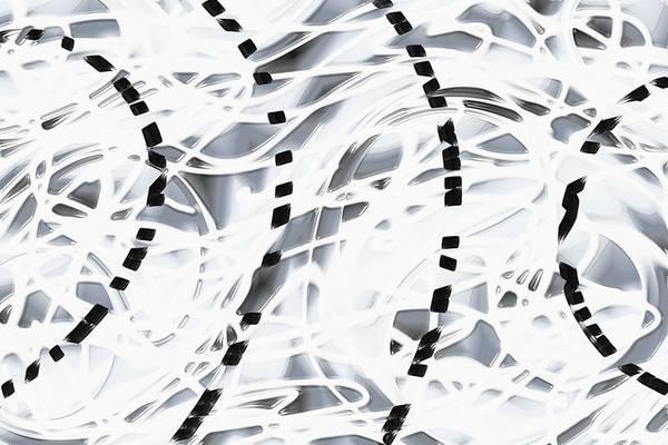 Abstsract Art Print featuring the digital art Chimera by James Eugene Albert