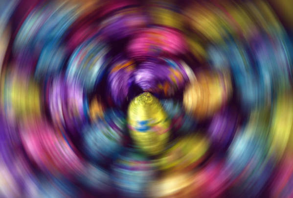 Easter Art Print featuring the photograph Chocolate Easter Eggs With Spin Effect by Steve Ohlsen