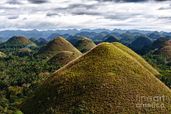 Asia Art Print featuring the photograph Chocolate Hills by Joerg Lingnau