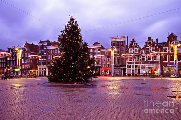 Amsterdam Art Print featuring the photograph Christmas In Amsterdam The Netherlands by Nisangha Ji