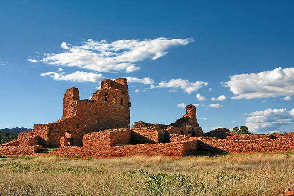 Church Art Print featuring the photograph Church Abo - Salinas Pueblo Missions Ruins - New Mexico - National Monument by Christine Till