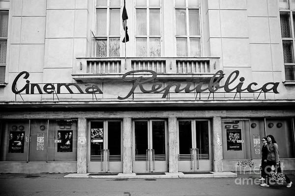 Cinema Art Print featuring the photograph Cinema Republica by Gabriela Insuratelu