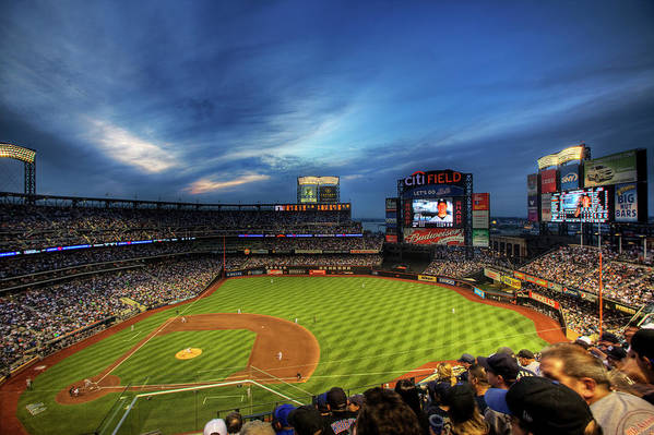 Citi Field Art Print featuring the photograph Citi Field Twilight by Shawn Everhart