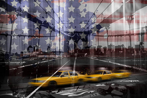 Abstract Art Print featuring the photograph City-art Nyc Composing by Melanie Viola