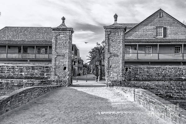 City Gates B&w Art Print featuring the photograph City Gates Black And White 2018 by C W Hooper