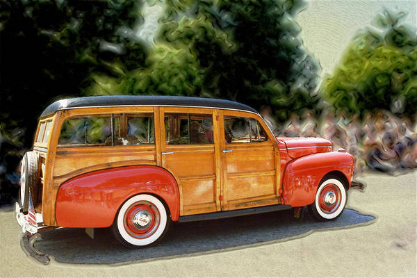Classic Automobile Art Print featuring the photograph Classic Woody Station Wagon by Roger Soule