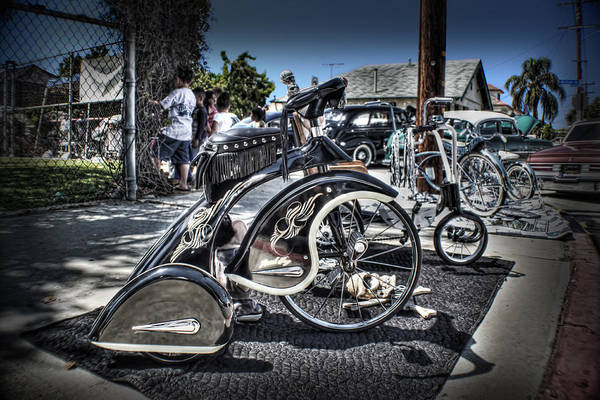 Lowrider Photographs Art Print featuring the photograph Classy Trike by MadMethod Designs