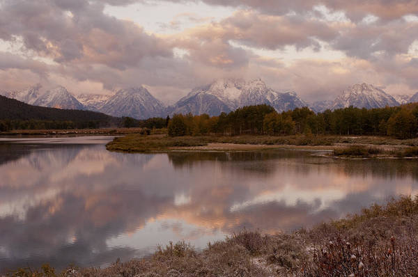 Grand Teton Art Print featuring the photograph Clearing Storm At Oxbow Bend by Sandra Bronstein