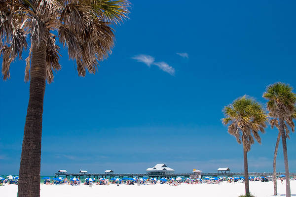 3scape Art Print featuring the photograph Clearwater Beach by Adam Romanowicz
