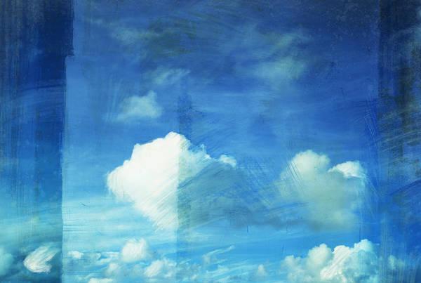 Abstract Print featuring the painting Cloud Painting by Setsiri Silapasuwanchai