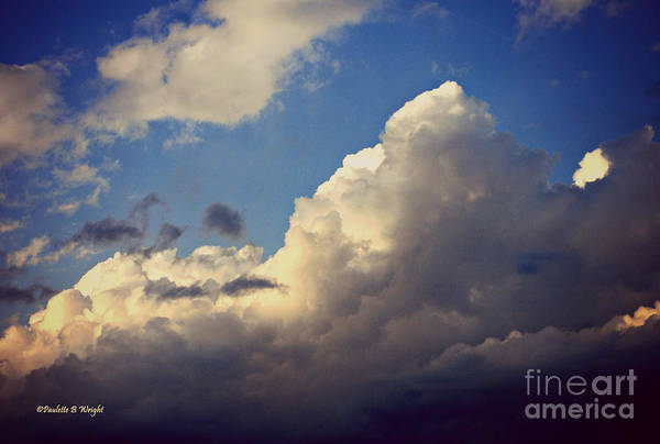 Clouds Art Print featuring the photograph Clouds-3 by Paulette B Wright