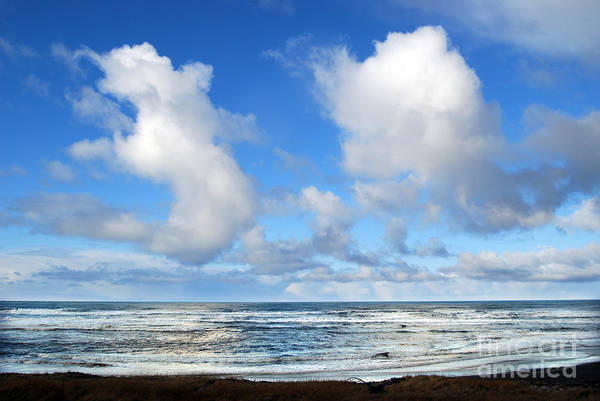 Ocean Art Print featuring the photograph Clouds At Play by Larry Keahey