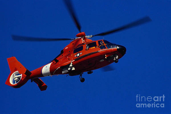 Horizontal Art Print featuring the photograph Coast Guard Helicopter by Stocktrek Images