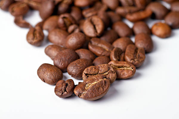 Aroma Print featuring the photograph Coffee Beans by Gert Lavsen
