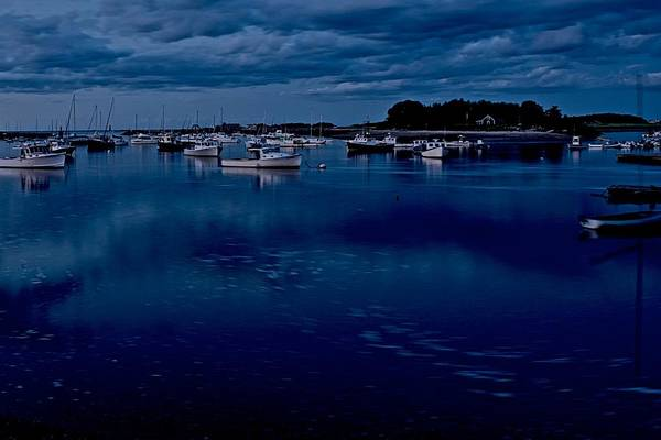Cohasset Art Print featuring the photograph Cohasset Harbor At Dusk by Gene Sizemore