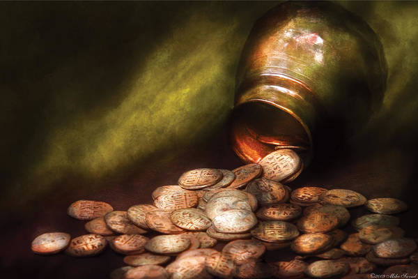 Savad Art Print featuring the photograph Collector - Coin - Treasure Quest by Mike Savad