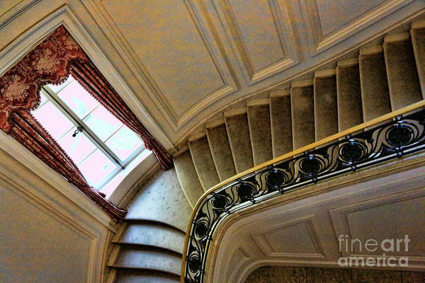 Architecture Art Print featuring the photograph Color Interior Stairs by Chuck Kuhn