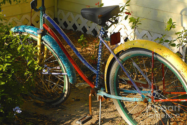 Bicycle Art Print featuring the photograph Colorful Bike by David Lee Thompson