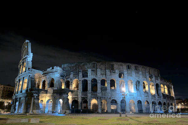 Colosseo Art Print featuring the photograph Colosseum By Night II by Fabrizio Ruggeri