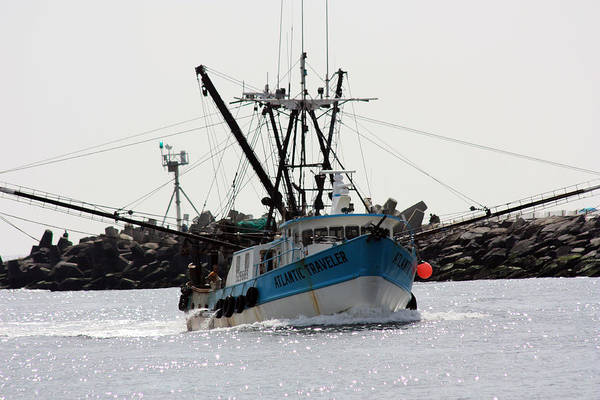 Fishing Trawler Art Print featuring the photograph Coming Home by Mary Haber
