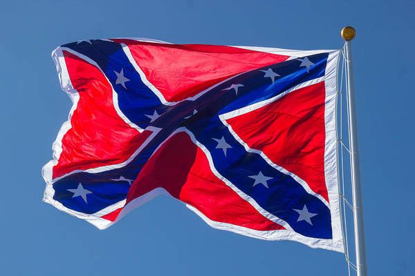 Confederate Art Print featuring the photograph Confederate Flag 3 by Judy Smith
