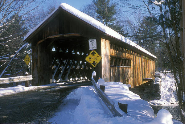 Covered Bridge Art Print featuring the photograph Coombs Winchester Covered Bridge by John Burk