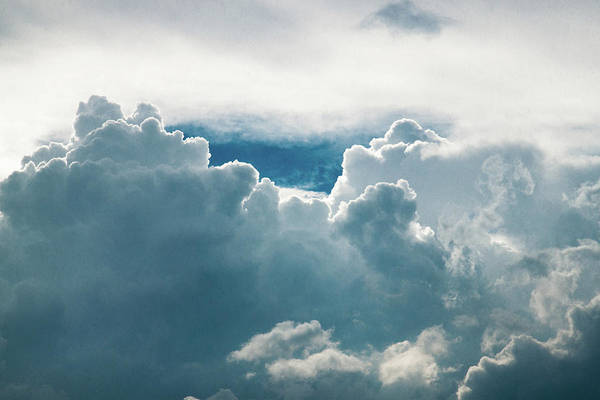 Clouds Art Print featuring the photograph Cotton Clouds by Marc Wieland