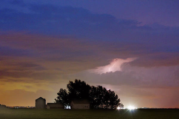 Lightning Art Print featuring the photograph County Line 1 Northern Colorado Lightning Storm by James BO Insogna