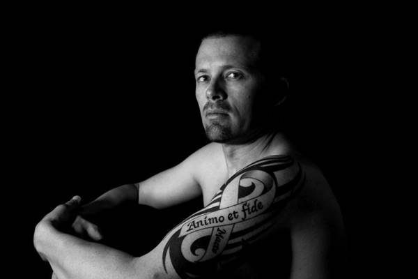 Tattoo Art Print featuring the photograph Courageously And Faithfully by MAriO VAllejO