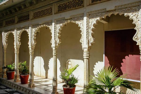 Courtyard Art Print featuring the photograph Courtyard, Rajasthan, India by Aashish Vaidya