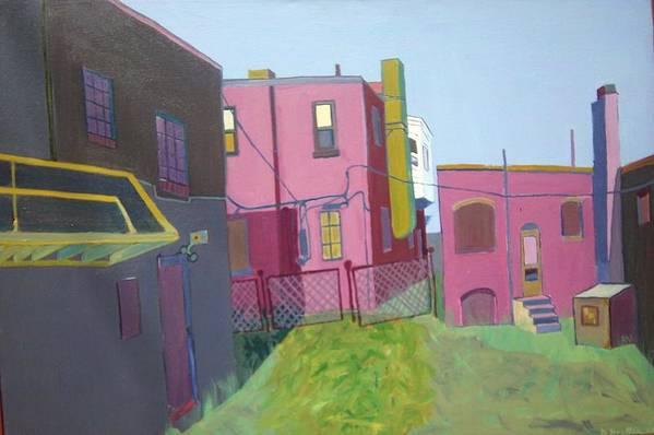 Alleyway Art Print featuring the painting Courtyard View by Debra Bretton Robinson