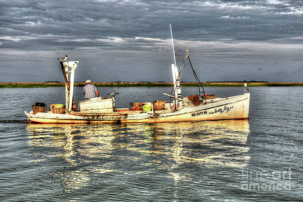 Smith Island Art Print featuring the photograph Crabbing Boat Scotty Boy - Smith Island, Maryland by Greg Hager